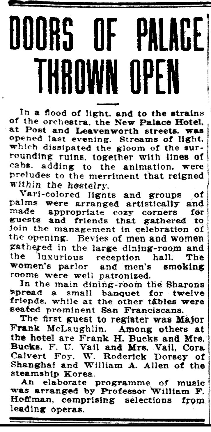 SF Call Nov 18, 1906